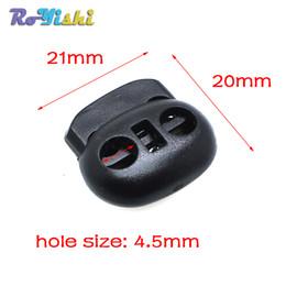 Wholesale Wholesale Black Beans - 100pcs lot Cord Lock Bean Toggle Stopper Plastic Size:20mm*21mm*8mm Toggle Clip Black