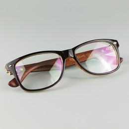 Les verres optiques de cadre de rivet de riz classique avec de vraies jambes en bois font la mode Eyewear 4 couleurs ? partir de fabricateur