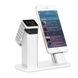 Wholesale Various Watches - Charging stand Dock Station For Apple Watch Series 2   NightStand Mode and iPhone 7 7 plus SE 5s 6S PLUS with Various Case