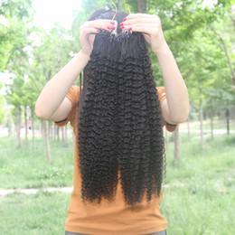 Argentina JUFA Micro Loop Ring Extensiones de cabello humano Brazilian Kinky Curly Virgin Remy Extensiones de cabello, 1g / strand, 100g / paquete, 8