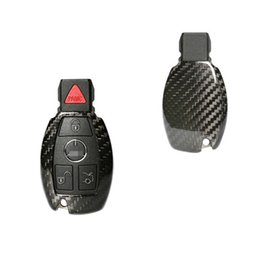 Wholesale Carbon Fiber Key Case - Carbon Fiber Car Key Case Shell Fit For Benz A B C E CLA CLS-CLASS