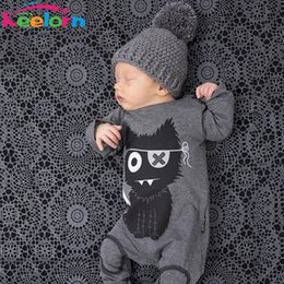 Wholesale Gentleman Modelling Romper - Wholesale- Keelorn Baby boy clothes 2017 Autumn fashion Romper Gentleman modelling infant long sleeve Baby boys clothes kids baby boy suit
