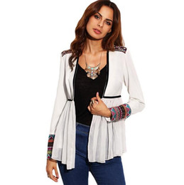 Wholesale Cheap Long Cardigans - 2017 New Women Long Sleeve Cardigan Capes jersey Tops Casual Thin knitted Sweater Outwear pull femme Cheap