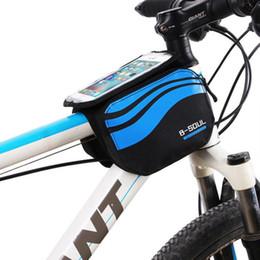 телефоны 5.7 экран Скидка Новый Велоспорт велосипед сумки велосипед рама передняя трубка водонепроницаемый мешок мобильного телефона 5.7 дюймов велосипед сенсорный экран сумка