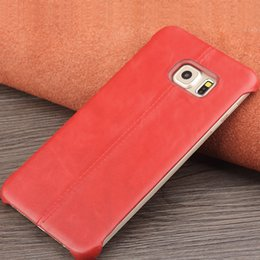 Wholesale Fit Business - 60556 ultra slim calf skin back cover for Samsung Galaxy S6 edge plus,fashion business back case for galaxy S6 edge+ 5.7inch