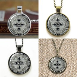 Wholesale Glass Cross Necklaces - 10pcs Assassin's Creed Four Musketeers cross eocoin medallion inspired Glass Necklace keyring bookmark cufflink earring bracelet