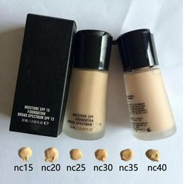 Wholesale Circle Protection - 2017 High Quality Mineralize Moisture SPF15 Foundation With 6 Colors Natural Sun Protection BB Base Liquid Foundation