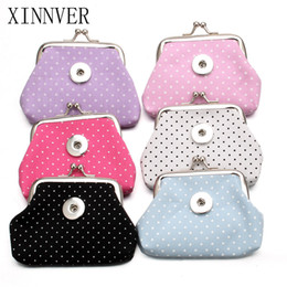 Wholesale Snap Purses - Wholesale- New 6 Colors 18MM Snap Buttons Jewelry Spot Coin Purses Small Wallets Pouch Kids Girl Women's Money Bags For Gift ZN018