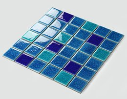 Wholesale Wholesale Ceramic Floor Tile - Glossy mosaic flooring tiles,ice crack ceramic swimming pool tiles Bathroom Kitchen wall tiles,four mixed-colors optional,LSBL4801 2 3 4