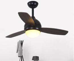 Wholesale Vintage Black Fan - Vintage Ceiling Fan With Light And Remote Control Industrial Lighting Restaurant Living Room Black Ceiling Fan LLFA