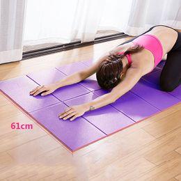 Wholesale Mat 8mm - Yoga Mat 8mm Beginner Novice 173*61cm Anti-skid Fitness Mat Folding Widening Lengthening Men and Women Yoga Mat