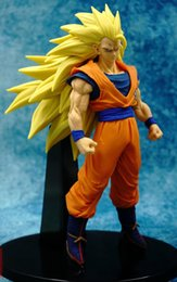 Wholesale Doll Scale - Dragon Ball Z Son Gokou 1 8 scale painted Super Saiyan Son Gokou Doll ACGN PVC Action Figure Collectible Model Toy 20cm KT2861