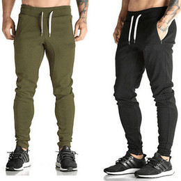 Wholesale Elastic Waist Harem Pants - Wholesale-Jogging Gym Sport Harem Pants Skinny Slim Fit Casual Trousers Sweatpants Mens