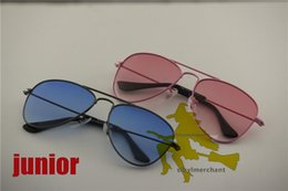 Wholesale Young Metal - Faster delivery ,for junior young style explosion-proof large metal 50MM colorful flash sunglasses,children nifty fashion sunglasses