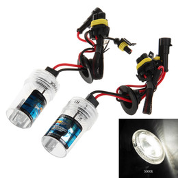 Wholesale Hid Xenon Bulb 12v 35w - H1 12V 35W 5000K White Light HID Xenon Light Bulb for Car Truck Motorcycle Electric Motor Car Free Shipping