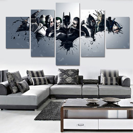 Wholesale Hd Movie Pictures - 2017 New Unframed HD Printed Harley Quinn Joker Batman Painting On Canvas Room Decoration Print Poster Canvas Movie Poster