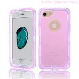 Wholesale Defender Tpu - 3 in 1 Hybrid Defender Case for iphone 7 7 plus Transparent Full Body Robot Cover Amor Cases for iphone 6 6s 7 plus samsung s7 edge