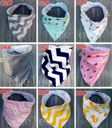 Wholesale Leopard Print Tie - INS Xmas Baby 2Layer Bibs 100% Cotton Dot Chevron Zigzag Bandana Bibs OWl Leopard Infant Babador Saliva Bavoir Towel Baberos For Newborn