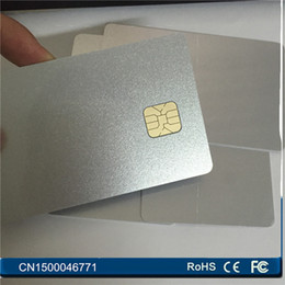 Wholesale Magnetic Card Access - Wholesale- 50PCS Lot PVC blank big chip SLE4428 sliver card Contact ISO7816 SmartCard For Access Control Free Shipping