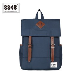 8007f2e801 types backpack Canada - Wholesale- Women Backpack 8848 Brand Backpacks  Pattern Solid Type Waterproof Oxford
