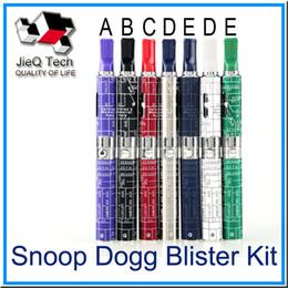 Wholesale Battery Pack Mah - Snoop Dogg Blister Kit Pack E Cigarettes Build-in 650 mah Battery Blue Atomizer For Dry Herb Wax Vaporizer Herbal Vape Blue Starter Kit