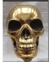 calaveras de latón de cobre Rebajas Decoración Cobre Latón Hecho a mano Cráneo humano Esqueleto cabeza humana Estatua Escultura Escultura Fábrica al por mayor Artes