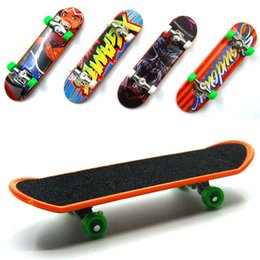 Wholesale Mini Scooter Toys - Wholesale-10Pcs Set Fingerboard Mini Finger Skateboard Plastic Finger Skate Scooter For Tech Dec Classic Game Throwbacks Original Boy Toys