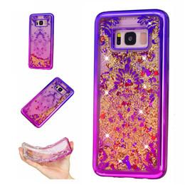 Wholesale Galaxy Glitter Cases - For Samsung Galaxy S7 edge A3 A5 J3 J5 2016 J310 J510 S8 Plus Case Transparent TPU Dynamic Liquid Glitter Sand Quicksand Stars Back Cover