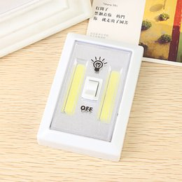 Wholesale Wireless Light Switches For Lamps - Magnetic LED Night Mini COB Light Ultra Bright Wireless Wall Light With Switch Magic Tape for Camping Lamp Indoor