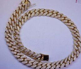 Wholesale Gold Carats - 100 Carats Diamond 18 Kilo Solid Yellow Gold Miami Cuban Link Chain 22 MM ASAAR
