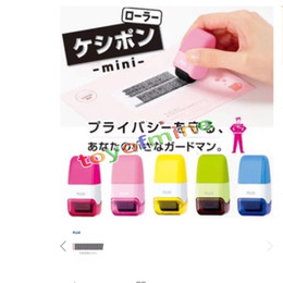 Wholesale Rubber Stamp Self Inking - 1*Plus Guard Your ID Mini Roller Stamp Self-Inking Stamp Messy Code Security New