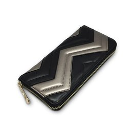 Wholesale Designer Leather Iphone Cases - New 2017 Hot Sale Genuine Leather Wallets Women Fashion Designer Credit Card Holders Ladies Casual Iphone Cases