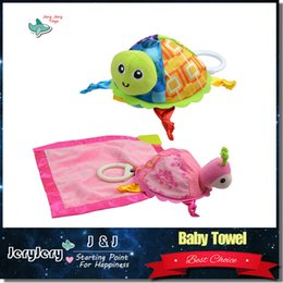 Wholesale Turtle Cute Doll - Sozzy Lovely Baby Rattle Toys Little Cute Turtle Plush Toys Infant Appease Towels Doll Baby Toys