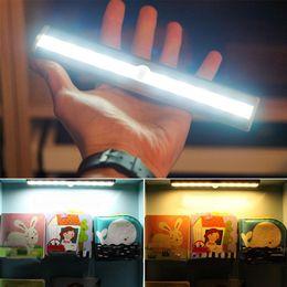Wholesale Wireless Pir Infrared Motion Sensor - 10led ir infrared motion detector wireless sensor closet cabinet lamp light light bar auto night light sensor pir motion sensor