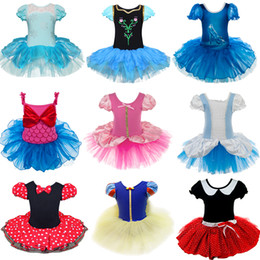 Wholesale Girls Ballet Cotton Dresses - 2017 Baby Girls Christmas Gift Minnie Mouse Dotted Halloween Party Cosplay Costume Girl Ballet Tutu Dress and Ear Headband