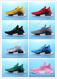 Wholesale Clover Fabric - 2017 new ship clover NMD HumanRace human race black men and women Running Shoes For Men Sports shoes Sneakers Drop free shipping Eur 36-45