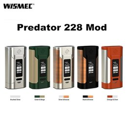 Wholesale Original Powers - Original Wismec Predator 228W Box Mod New Colors 18650 Battery TC Box Mod Serve As a Power Bank For Other Electronic Devices 2235030