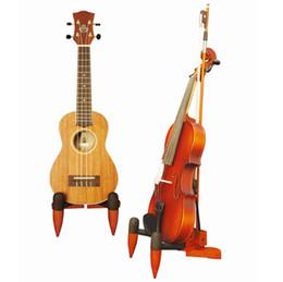 sapos de arco de violino Desconto Boa qualidade Madeira Violino Ukulele Estande Dobrável De Madeira Violino e Ukulele Suporte