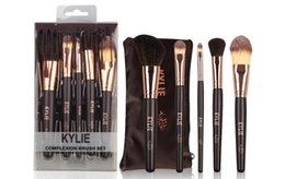 Wholesale Professional Synthetic Makeup Brushes - hot selling new kylie Makeup Brushes 5 pieces Professional Makeup Brush set free shipping