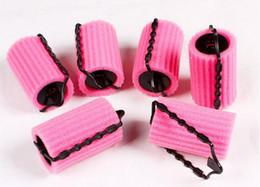 Wholesale Foam Bendy Rollers - 6 8 Pcs Set Large&Small Size Hairstyle Foam Curler Roller Stick Set Spiral Curls Tool DIY Bendy Hair Styling Sponge Kit