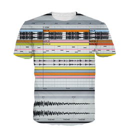 Wholesale Popular Living - Wholesale-New Fashion Ableton Live T-Shirt 3D Sexy Tee Tops Bedroom DJs Popular Music Production Software All-Over Print T Shirt Dropship
