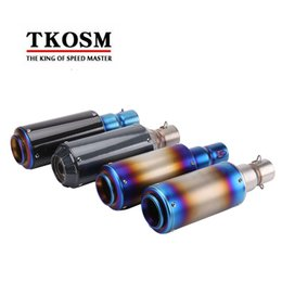 Wholesale Motorcycle 1995 - TKOSM Universal Motorcycle Akrapovic Exhaust Pipe Modified Scooter Exhaust Muffler Fit for Most Motorcycle for Z800 CBR1000 T-max