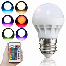 2019 r7s led lamp 78mm E27 B22 RGB Bombillas LED 3W LED de maíz luces de bulbos con control remoto 12 meses de garantía