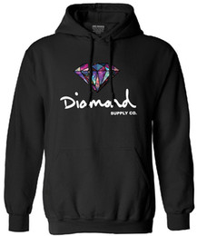 Wholesale Diamonds Fleece - Wholesale- mens fashion harajuku sweatshirt 2016 autumn diamond hooded fleece long sleeve men funny tracksuit hoodies male streetwear mma