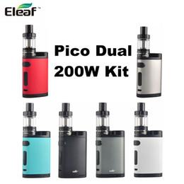 Wholesale Green Heads - Authentic Eleaf Pico Dual 200W Kit Dual 18650 vape Mod with EC 0.3ohm 0.5ohm Head 2ml Eliquid Capacity
