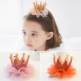 pearl trim wholesale Coupons - Brand new Children hair trim headdress crown princess pearl hairpin FJ075 mix order 60 pieces a lot