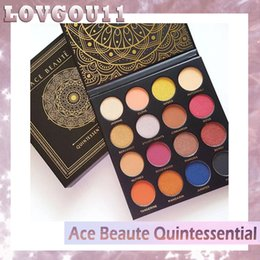 Wholesale Shinny Top - NEW Ace Beaute Quintessential Eyeshadow Palette 16 colors shinny beauty eyeshadow top quanlity DHL free 660235-1