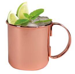 500 ml de Acero Inoxidable Moscow Mule Copa de Cobre Taza de Cerveza Rose Gold Drinkware Venta al por mayor Envío gratuito desde fabricantes