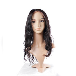 Wholesale Tangle Free Lace Wigs - Uglam Hair Brazilian Body Wave Full Lace Human Hair Wigs Brazilian Virgin Hair Glueless Free Shipping No tangle Can be Restyle Well