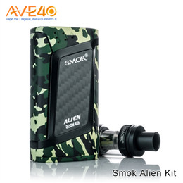 Wholesale Authentic SMOK Alien Starter Kit with ml TFV8 Baby atomizer W ALIEN box mod V8 Baby Coil Electron Cigarette kit
